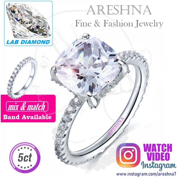Areshna Jewelry - 5ct Lab Diamond Engagement Ring
